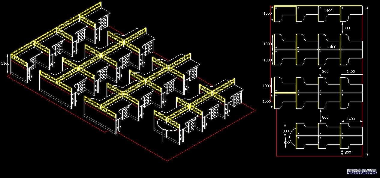 办公家具CAD设计