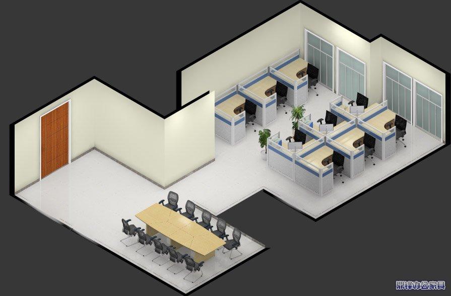 办公家具效果图—门窗设计