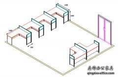 如何用CAD绘制办公隔断