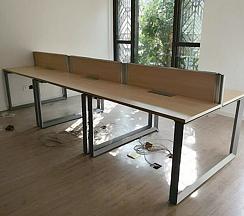 时尚简易钢架员工桌案例