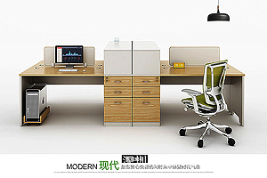 板式四人组合办公桌对面桌HK213