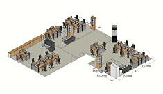 大空间办公室的办公家具组合形式案例分析!
