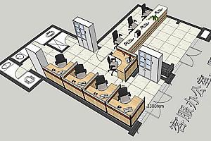 黄岛区越秀-君悦府物业办公家具设计案例