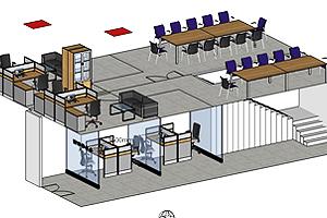 如何设计小户型上下双层办公室家具布局?
